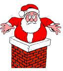 Kerstman ertussen plaatsen